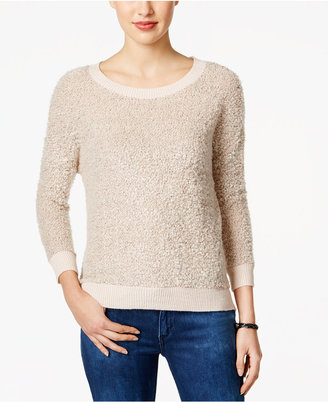Calvin Klein Jeans Textured Metallic Sweater $69.50 thestylecure.com