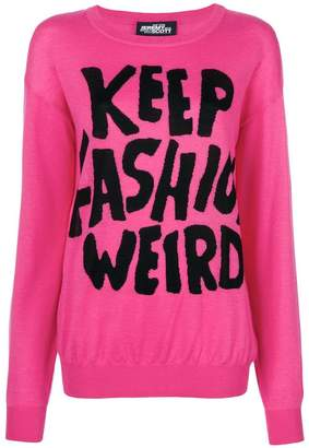 Jeremy Scott Keep Fashion Weird jumper