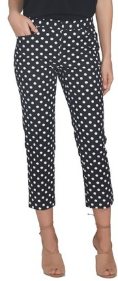 Women's Cece Crop Stretch Woven Pants $89 thestylecure.com
