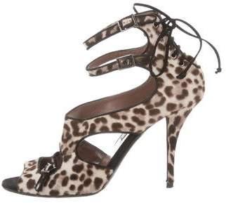 Tabitha Simmons Ponyhair Cutout Sandals