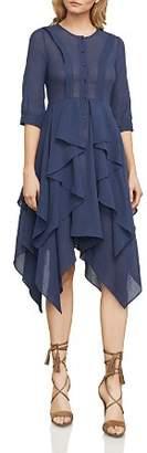 BCBGMAXAZRIA Jovita Handkerchief-Hem Shirt Dress