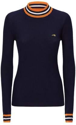 Bella Freud Stripe Trim Sweater