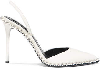 Alexander Wang Rina Studded Leather Slingback Pumps - White
