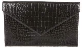 Alaia Leather Envelope Clutch
