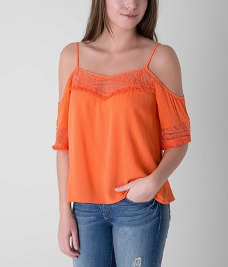 Fire Cold Shoulder Top $32.95 thestylecure.com