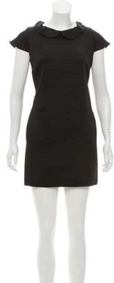 Erin Fetherston Collared Mini Dress Black Collared Mini Dress