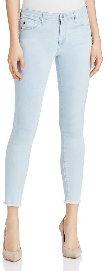 AG JeansAG Middi Distressed Skinny Ankle Jeans