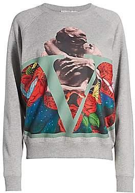 Valentino Women's Lovers Jersey Sweatshirt