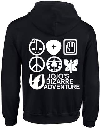 Jo-Jo Happy Yohe JoJo Bizarre Adventure Kujo Jotaro Thin Hoodie Coat (, M)