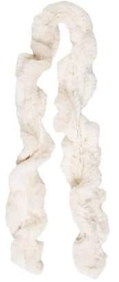 Joseph Rabbit Fur Knit Scarf