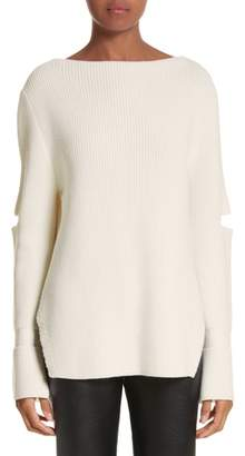 Stella McCartney Slit Back Virgin Wool Blend Sweater