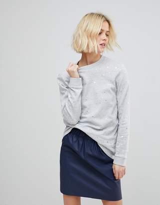 B.young Metallic Polka Dot Sweatshirt