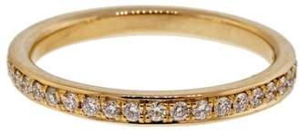 14K Yellow Gold 0.45ct Bead Set Pave Diamond Band Ring Size 6.5