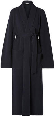 The Row Tappi Ribbed Cashmere Cardigan - Navy