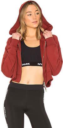 Ivy Park Logo Elastic Crop Hoodie