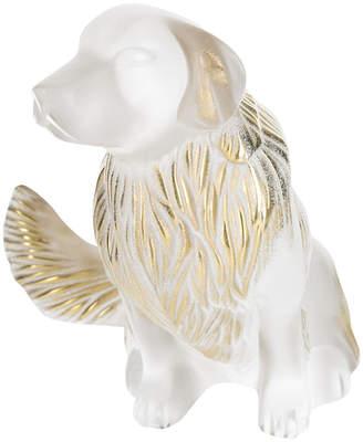 Lalique Golden Retriever Sculpture