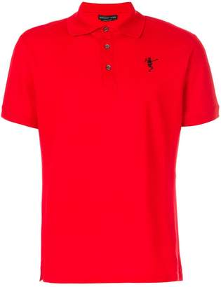 Alexander McQueen dancing skeleton embroidered polo shirt