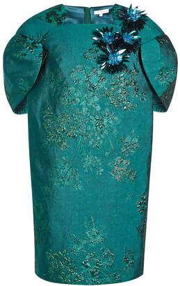 DELPOZO Jacquard Tulip Dress with Embellishments