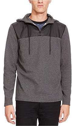 Kenneth Cole New York Men's Half Zip Hoodie with Nylon