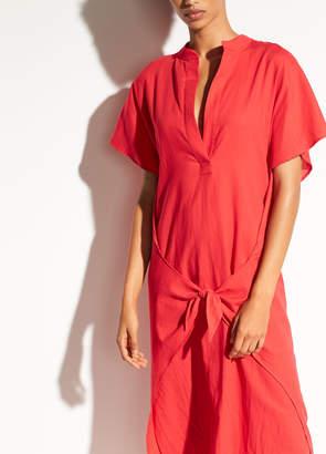 Wrap Front Cotton Dress