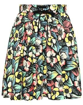 ee9ae64b6 RED Valentino Floral-print Stretch-cotton Skirt