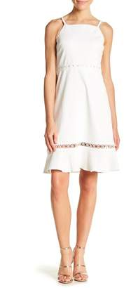 Kensie Ribbed Grommet Lace Dress