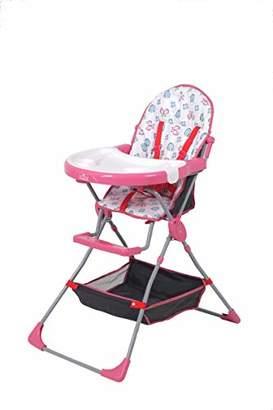 Kidsaw Highchair with Storage Basket 252, Pink, of