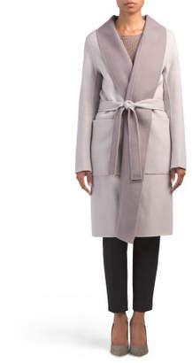 Shawl Collar Wool Blend Coat