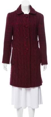 Prada Virgin Wool Knit Coat