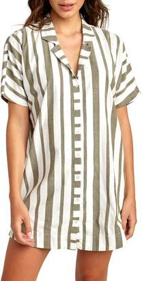 RVCA Storm Stripe Shirtdress