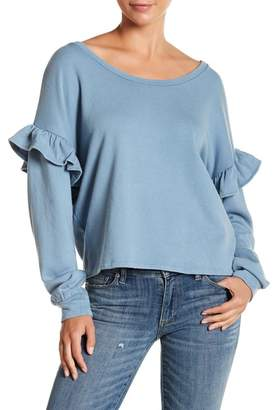 Lucky Brand Ruffle Sleeve Sweater