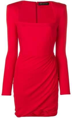 Versace draped jersey dress
