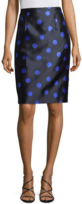 Oscar de la Renta Polka-Dot Pencil Skirt