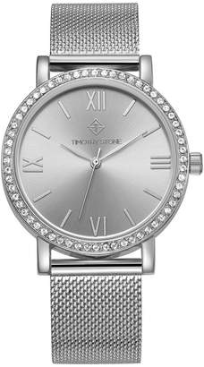 Timothy Stone Women's 'Indio' Minimalist Crystal Accented Mesh Bracelet Watch