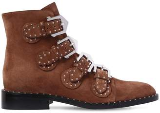 Givenchy 20mm Elegant Studded Leather Ankle Boots