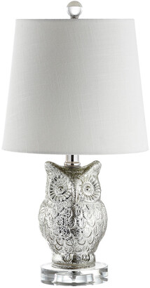 Jonathan Y Designs Jonathan Y 19In Night Owl Silver & Ivory Table Lamp