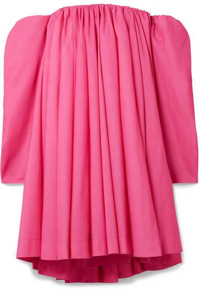 CALVIN KLEIN 205W39NYC - Off-the-shoulder Gathered Taffeta Dress - Fuchsia