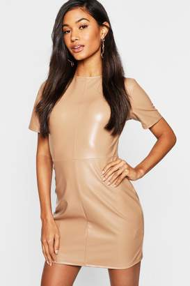 boohoo Leather Look Mini Dress