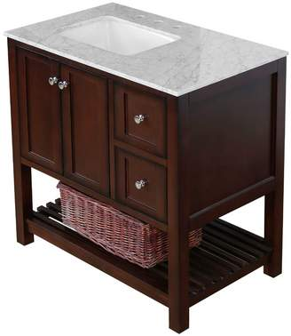 "Three Posts Chertsey Open Cabinet 36"" Single Bathroom Vanity Set Top"