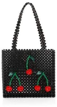 Susan Alexandra Ma Cherie Beaded Cherry-Applique Tote