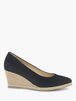 Gabor Paisley Espadrille Wedge Heel Court Shoes