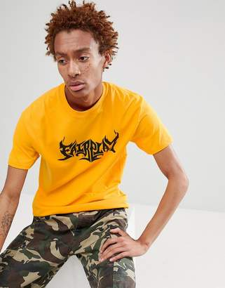 Fairplay Flame Logo Print T-Shirt In Yellow