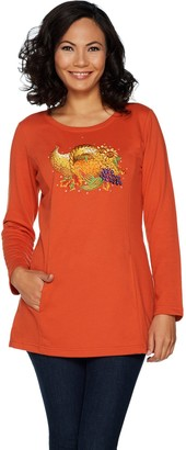 Factory Quacker Autumn Harvest Long Sleeve French Terry Tunic