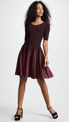 Milly Lurex Pleated Dress