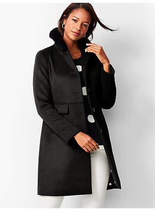 Talbots Faux-Fur-Trim Wool Coat