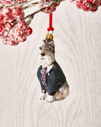 Joy To The World Collectibles Gray Schnauzer in Sweater Ornament