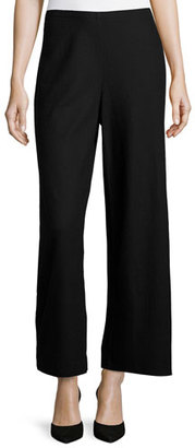 Eileen Fisher Fisher Project Boiled Wool Wide-Leg Pants, Black $124 thestylecure.com