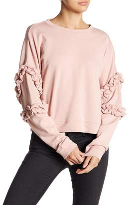 Romeo & Juliet Couture ROMEO &JULIET COUTURE Knit Ruffle Sleeve Pullover