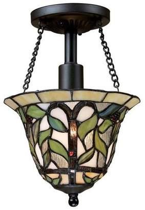 Elk Lighting 70114-1 Latham Traditional Semi Flush Mount Ceiling Light