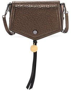 Jimmy ChooJimmy Choo Arrow Metallic Leather Crossbody Bag, Brown